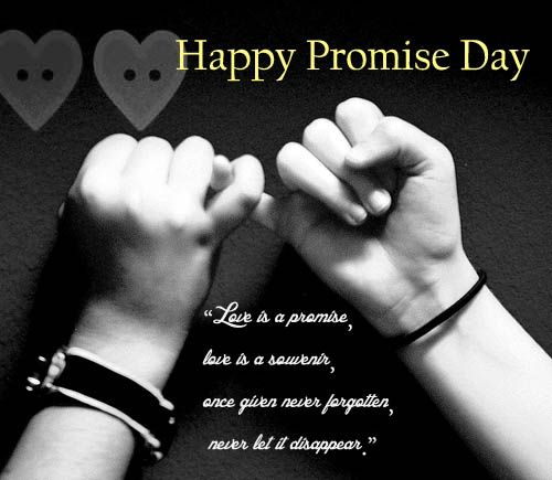Promise day image with quotes