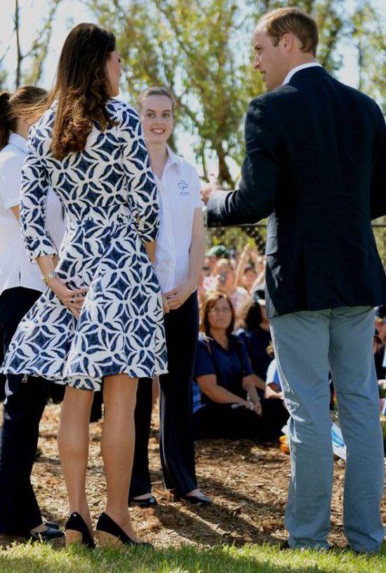 kate middleton dress blowing up in Australia