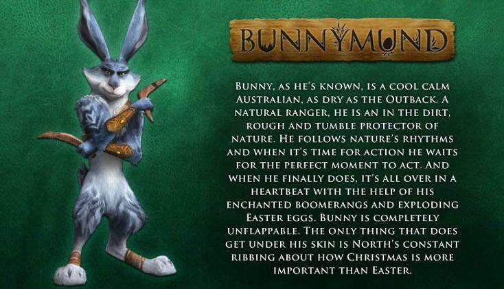 Cartel personaje Bunnymund en El origen de los guardianes