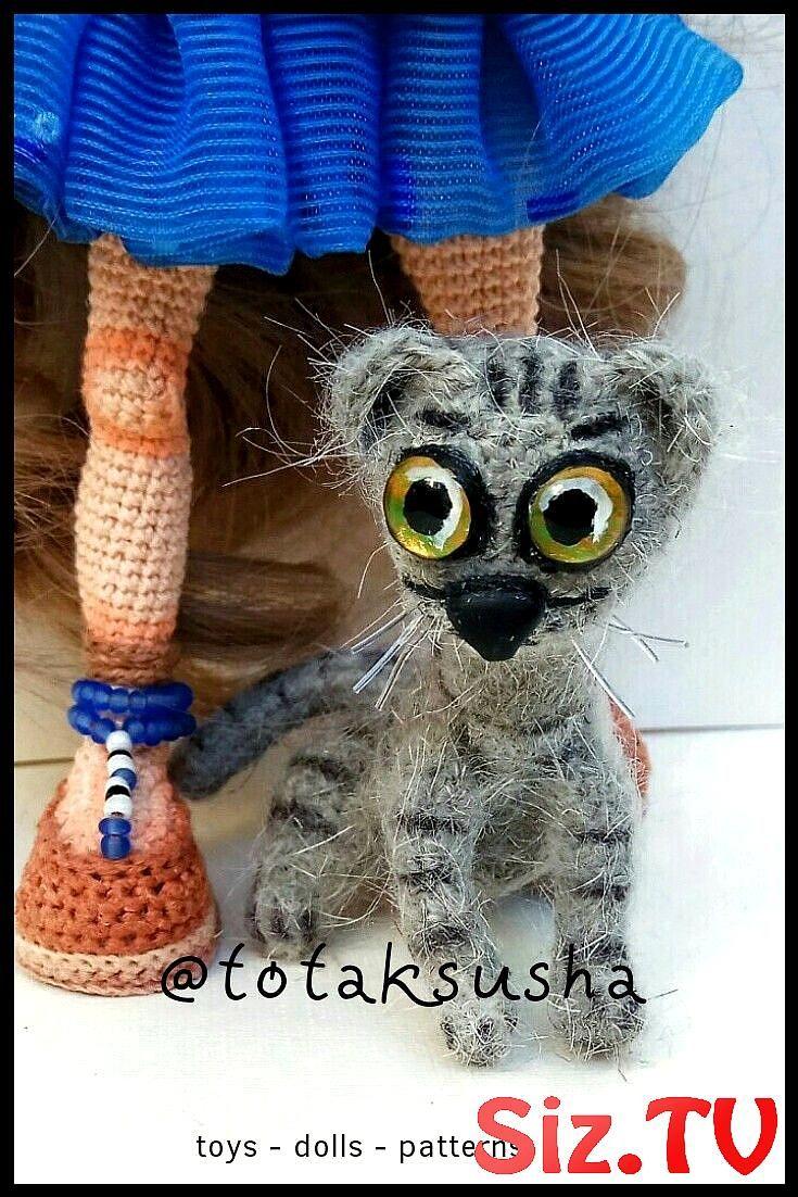 Crochet Russian Blue Cat Amigurumi Project: British Wool | TOFT | 1102x735
