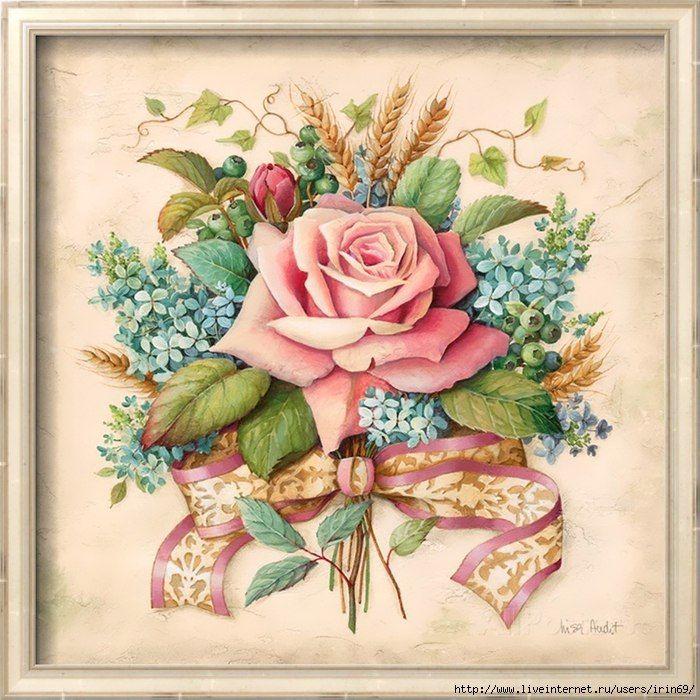 них картинки винтажные цветы в картинках всем