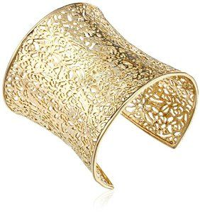 14k gold-plated filigree cuff bracelet by Kendra Scott. #krissylovesbling