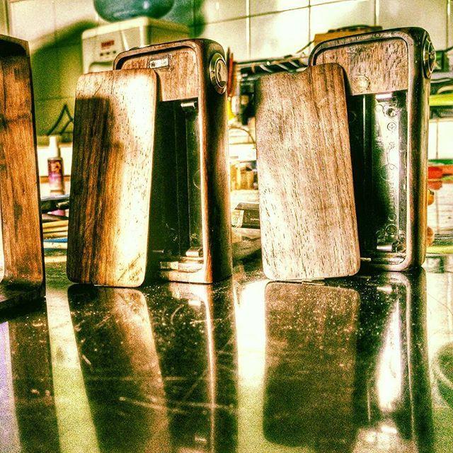 Ready for delivery.. #diyboxmod #vaporwave #wooden #vapenation #vapefam #undergroundvapers #diy #diyboxmods