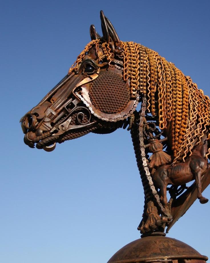 Best John Lopez Sculptures Images On Pinterest Metal - Artist creates incredible sculptures welding together old farming equipment