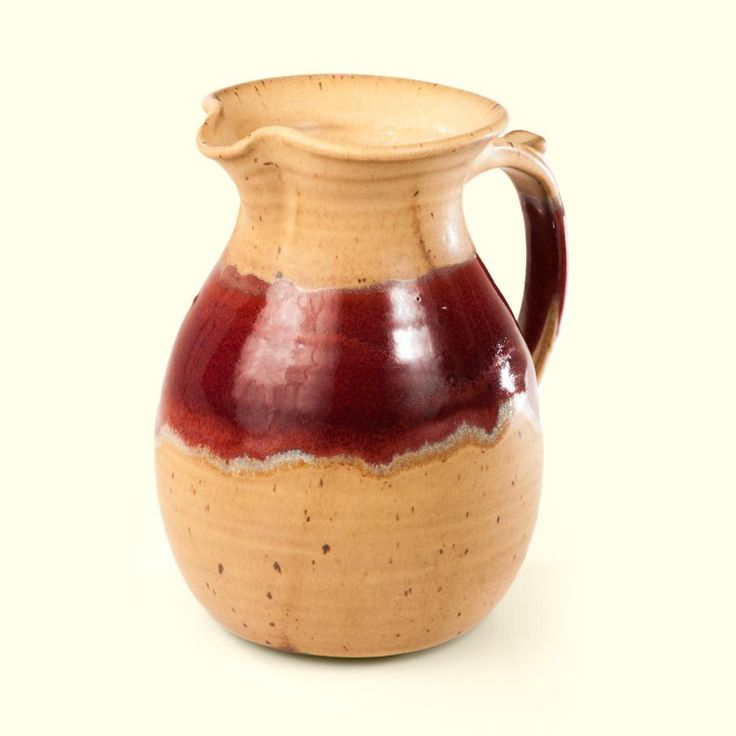 Mediterranean Pitcher | Mocha Red River glaze