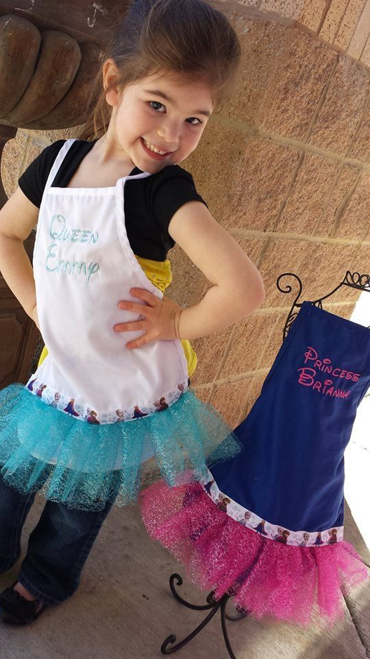 Frozen Tutu Personalized Aprons