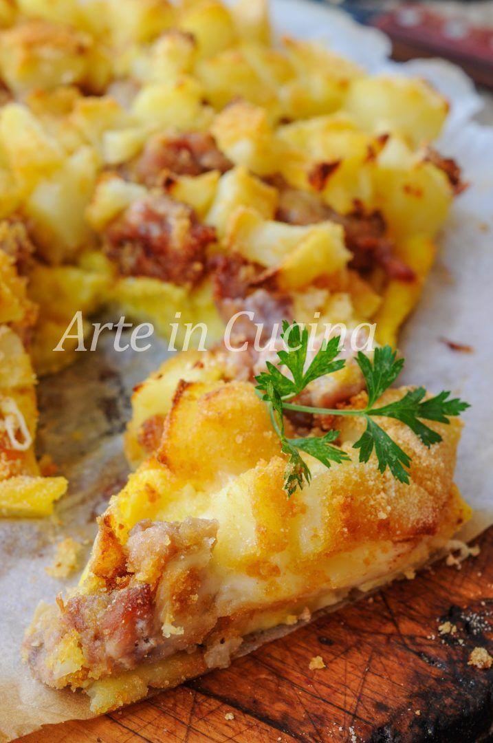 Sbriciolata di patate e salsiccia ricetta facile vickyart arte in cucina