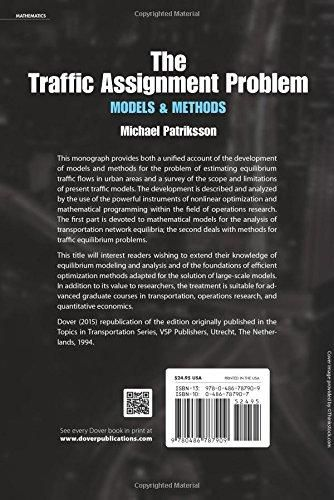 The Traffic Assignment Problem: Models and Methods (Dover Books on Mathematics)