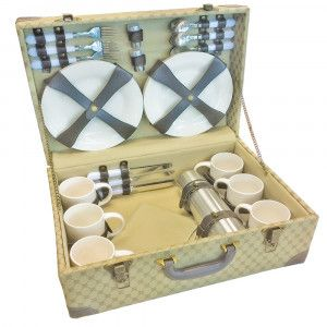 Retro Suitcase Picnic Set by easy days