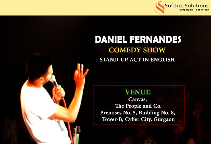 Life is better when you are laughing, so laugh out loud this weekend with Daniel Fernandes. http://bit.ly/2aeqLhk