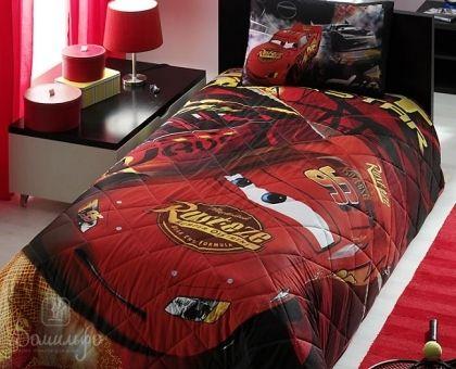 Купить покрывало стеганое детское CARS DRIFT красное 180х240Н от производителя Tac (Турция)