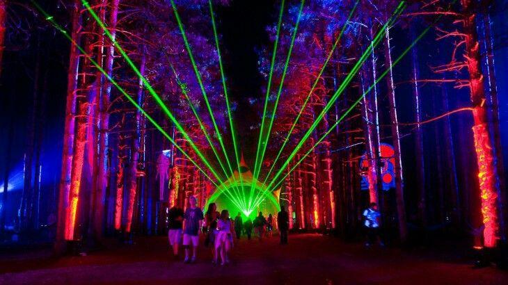 Festival de Música Bosque Eléctrico (Michigan)El Festival de Música Bosque Eléctrico es un evento de cuatro días que se centra en música electrónica y jam bands. Bellos entornos y espectaculares juegos de luces se mezclan para crear una experiencia surrealista.