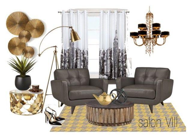 salon VIII by a-filipczak on Polyvore featuring interior, interiors, interior design, dom, home decor, interior decorating, John-Richard, Diane Von Furstenberg, Asprey and Arteriors