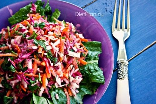 салат для очищения кишечника и похудения