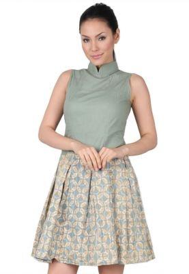 OZZY Batik Dress Batik Hijau