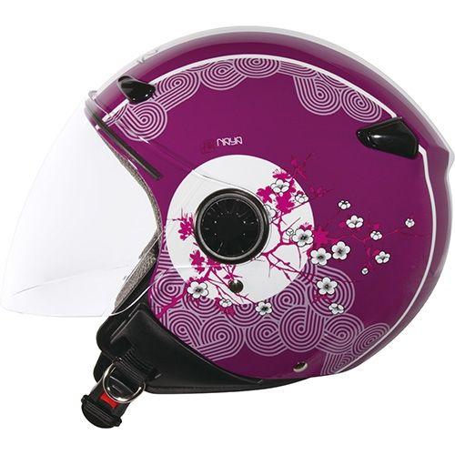 Helmets -  Zeus Zs-210B Helmet-Peach Purple DD5 White   |   Price: 44,00€