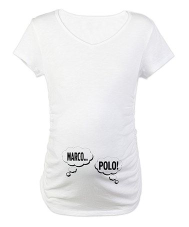White 'Marco Polo' Maternity Tee - Women & Plus by CafePress on #zulily