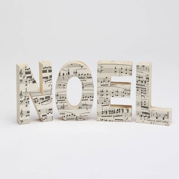 Cute! DIY?? vintage music letters by bombus | notonthehighstreet.com