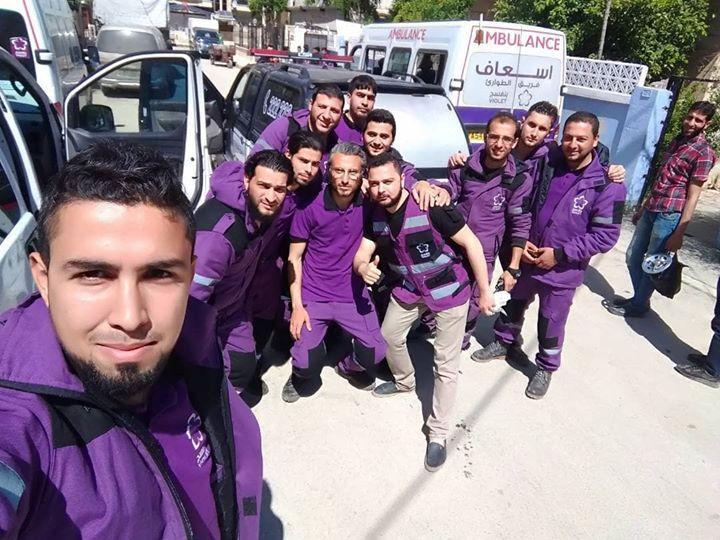 انطلاق فريق ادلب باتجاه منطقة اعزاز لاستقبال أهلنا الوافدين من دوما بنفسج