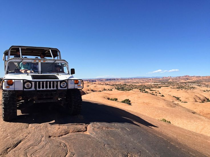 """Adventure lives up to its name in Moab, Utah! We all saddled up in aHummer for an off-road tour of the famous slick rock area know as """"Hell's Revenge"""". Everyone was super excited to go for a ride in this custom vehicle, but didn't realize how much more exciting it would be once we arrived..."""