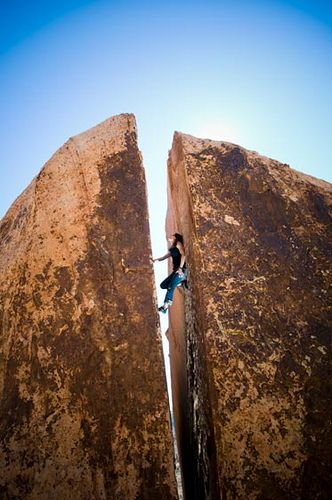 This incredible shot of a chimney route at Red Rocks, NV was taken by Andrew Kornylak. Would you take the climb?