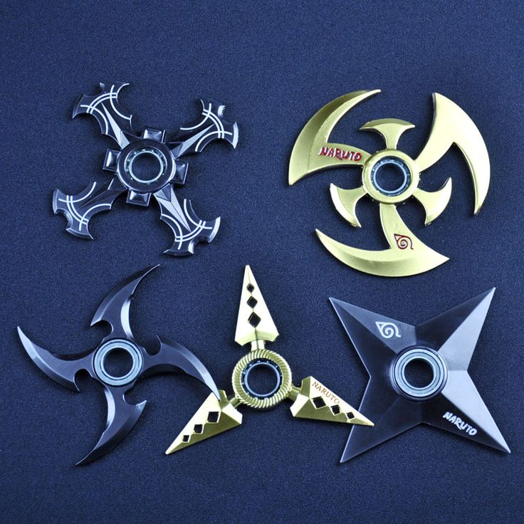 Hand Spinner métalliques aux motifs de Naruto. Ces hand spinners shuriken raviront tous les fans de Naruto, Sakura, Sasuke et sa bande !