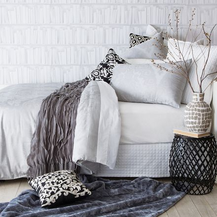 Classic Silver Quilt Cover Set