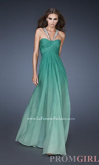 ombre mint green prom dress