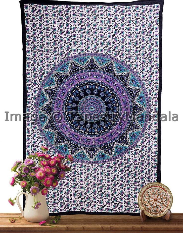 Star Mandala Throw Indian Wall Hanging Hippie Tapestry Dorm Wall Decor ICSTT9027 #HandmadeCraftaura #BedspreadTapestry