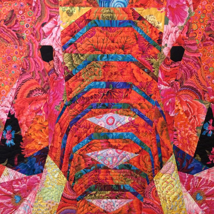 Elephant Abstractions Quilt Made By Jane Suzuki And