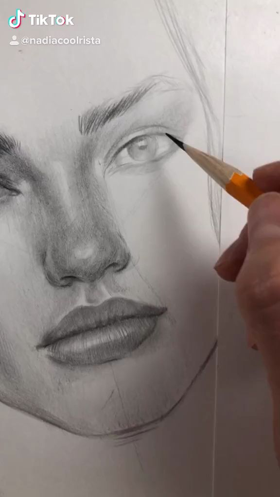 Drawing face proportions by Nadia Coolrista