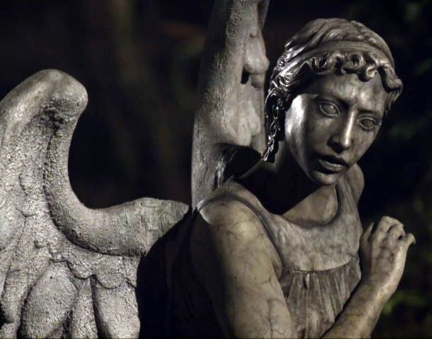 Dr. Who - Weeping Angel ... I recently saw the weeping angel episode (i'm super late to Dr. Who), & I usually never get scared at scary movies or shows or anything but those angels were horrifying, I actually jumped & screamed out loud a one point.