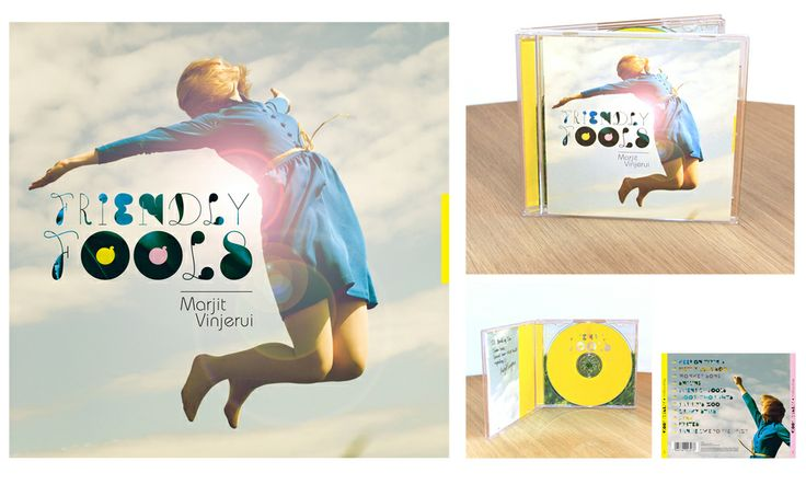 Front cover, cd and inlay card for album 'Friendly Fools' by Marjit Vinjerui