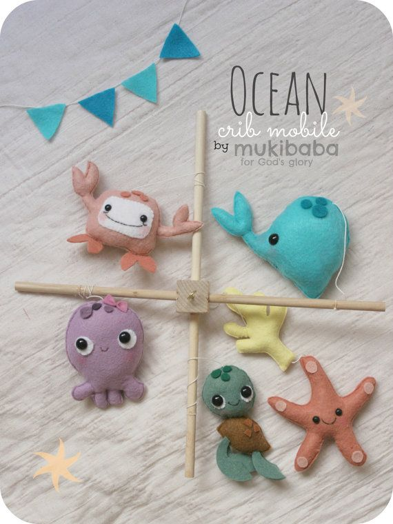 Baby Crib Mobile Under The Sea Crib Mobile Ocean by mukibaba