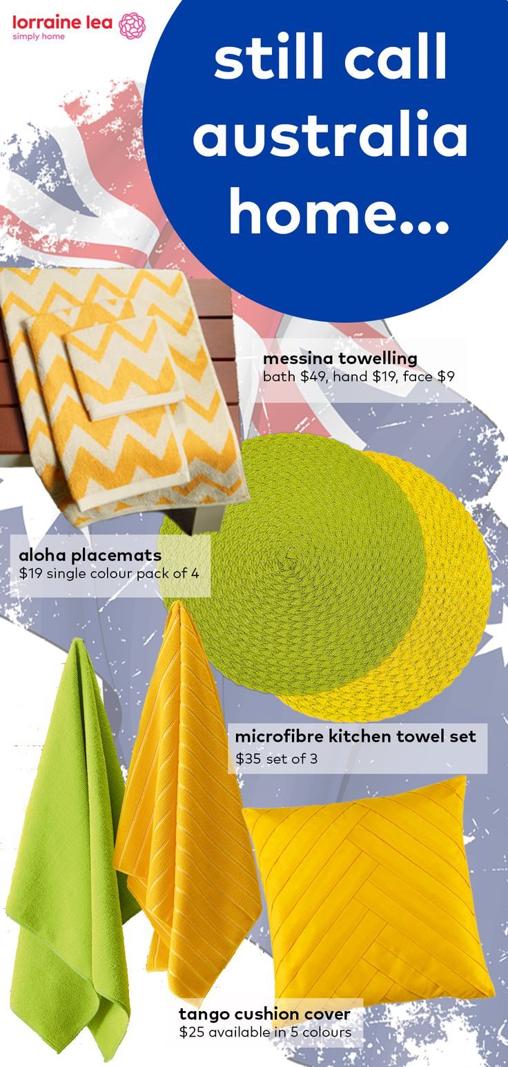 Green and gold products to get your home into the spirit of Australia Day www.lorrainelea.com