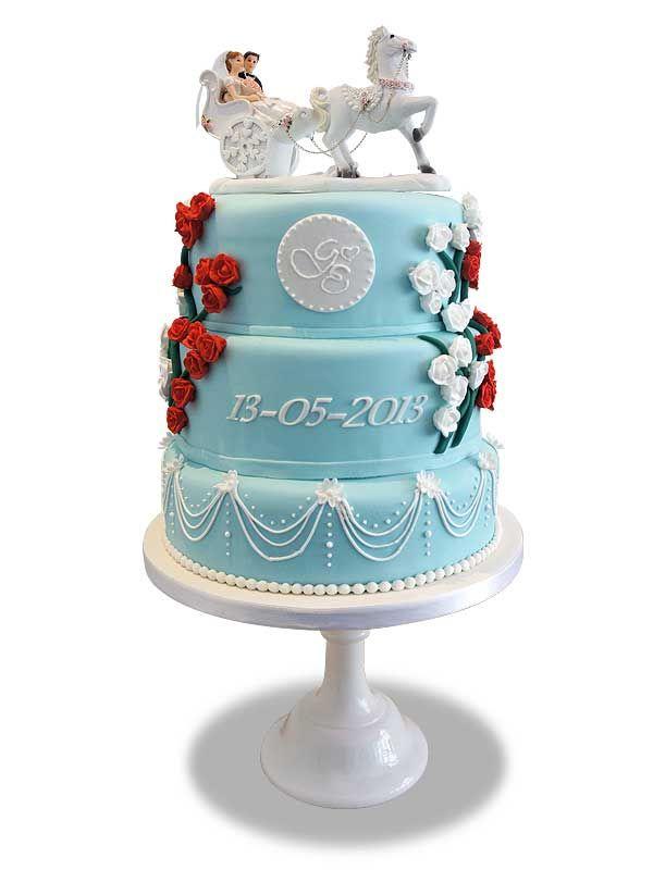 PuurTaart :: Taartengalerij - Bruidstaart - Wedding cake Out of the Blue