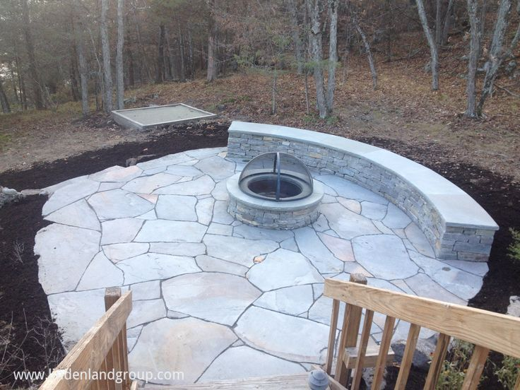 This Fire Pit And Patio Project On Lake Champlain In Ny