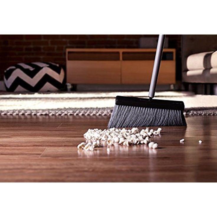Fuller Brush Black Slender Push Broom Hard Surfaces 2pcs. Steel Handle & Handy  #FullerBrush