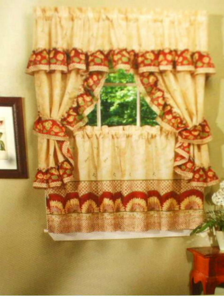Add A Cheerful Sunny Touch To Your Kitchen With These Sunflower Kitchen  Curtains. $27.95
