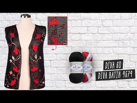 Tığ işi ile batik desenli bebek battaniyesi - Batic design of baby blanket with crochet - YouTube