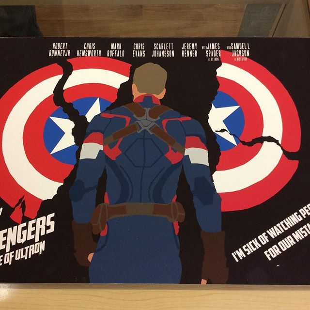 """""""A3 size Captain America Avengers age of Ultron fan art print by Huddersfield art student Jack Murphy high quality paper on a mountboard £45 Instore now and on our depop store #wintersoldier #captainamerica #avengersart #ultron"""" Photo taken by @diversionsgifts.co.uk on Instagram, pinned via the InstaPin iOS App! http://www.instapinapp.com (07/03/2015)"""