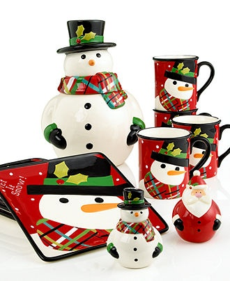 Christmas Cut-Outs Snowman Dinnerware Collection - Casual Dinnerware - Dining & Entertaining - Macy's