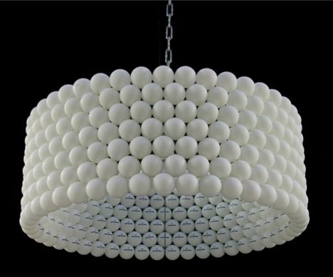 ping pong ball lamp - i can see this painted turquoise