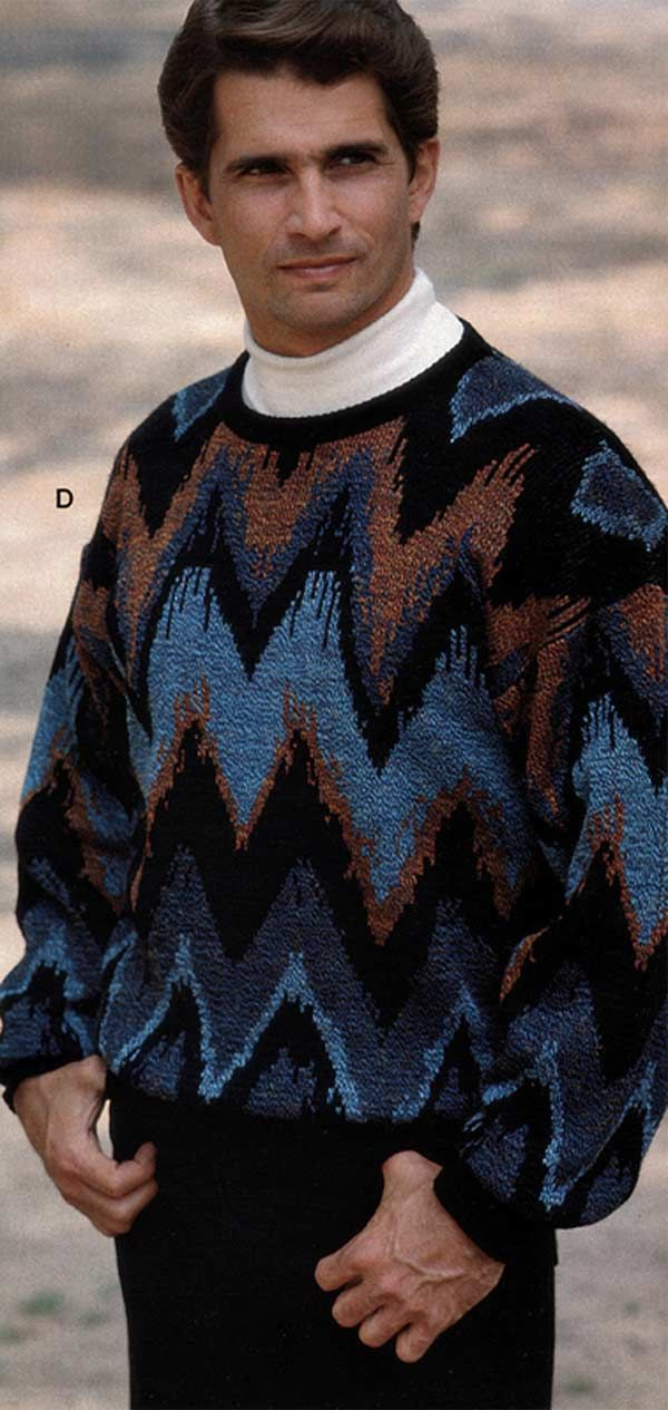 Men's Sweater from a 1991 catalog #1990s #fashion #vintage ...
