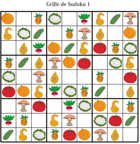 Imprimer la grille de sudoku 1 niveau 1