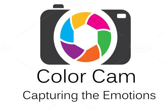 Color Cam Logo Design by Conflutech Designs on Creative Market