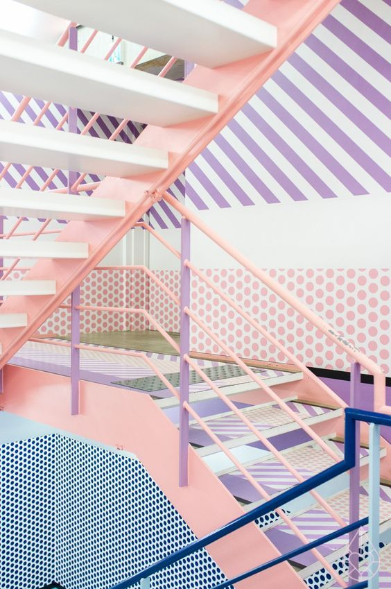 Pastel staircase.
