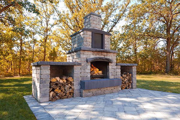 Enjoying the warmth using your Stone Oasis Fireplace at the start of fall.