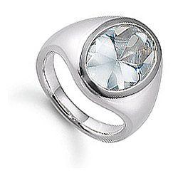 Aagaard ring i sølv lyseblå zirkon