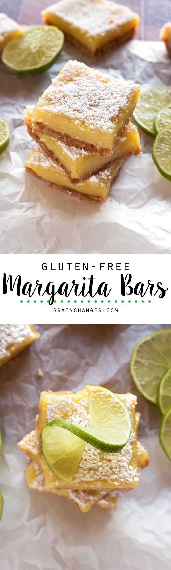 Light, bright, and perfectly citrusy, these cocktail-inspired Gluten-Free Margarita Bars are the perfect summertime treat!